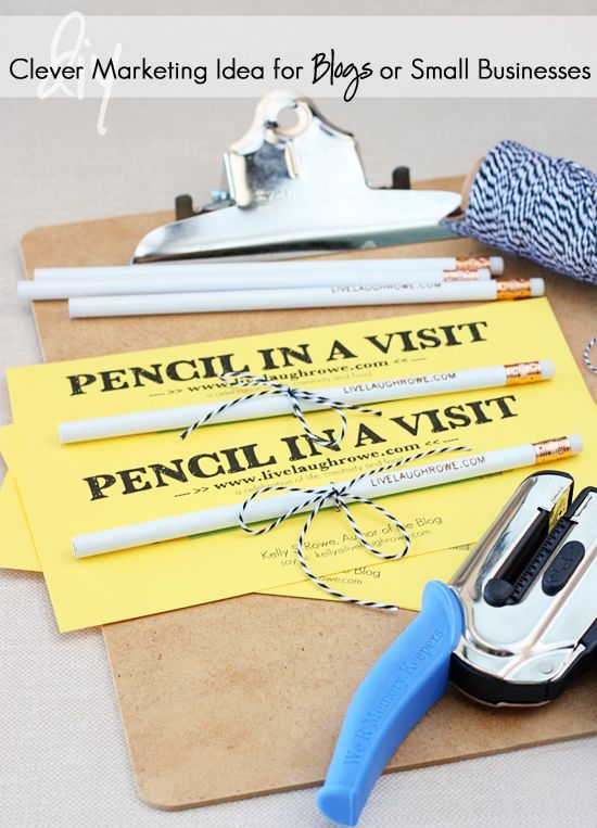 Pencil on Visit Promotion – Easy and Inexpensive Marketing for Small Business …