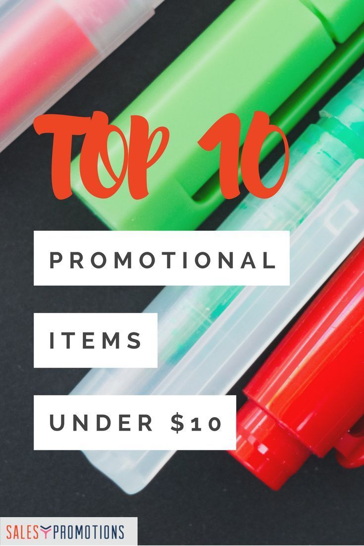 So you want to offer promotional products that are desirable and will encourage you to …