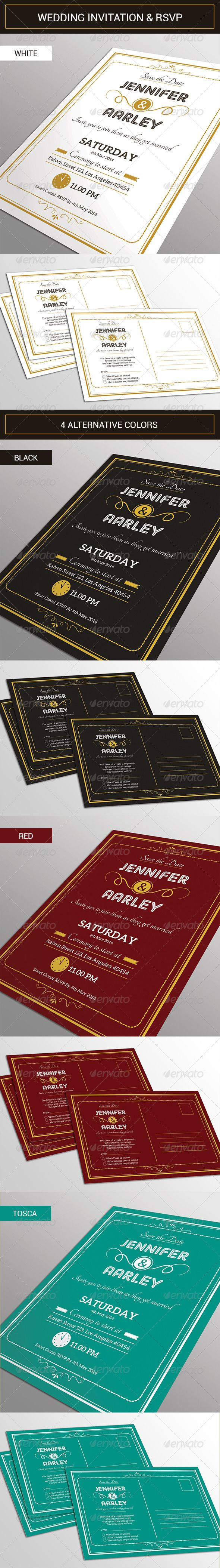 Elegant Wedding Invitation & RSVP – Wedding Card and Invitation