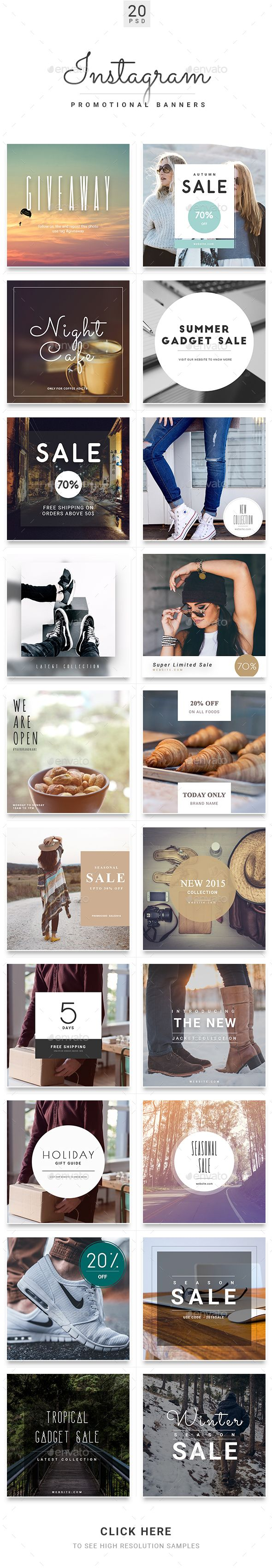 Instagram PSD Prohibition Template. Download here: graphicriver.net / …