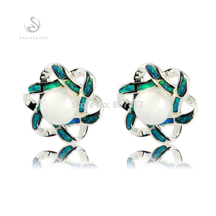 SHUNXUNZE Ethnic Flash sales promotion Fashion earrings jewelry White perl …