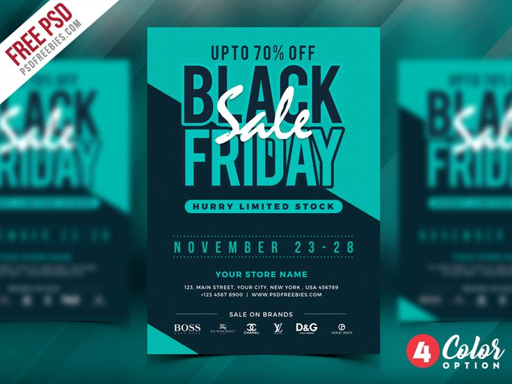 Download Free Black Friday Sale Flyer PSD. A perfect sales pilot to promote …